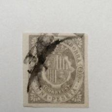 Sellos: SELLO ANDORRA ESPAÑOLA,1896,1 PESETA . , MATASELLADO., SIN DENTAR. Lote 287867923