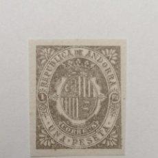 Sellos: SELLO ANDORRA ESPAÑOLA,1896,1 PESETA . , NUEVO., SIN DENTAR. Lote 287868298