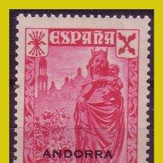 Sellos: ANDORRA BENEFICENCIA 1938 Hª DEL CORREO HABILITADOS, EDIFIL Nº 1 * *. Lote 288359433