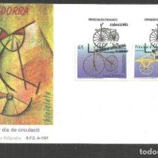 Sellos: ANDORRA SOBRE PRIMER DIA DE CIRCULACION EDIFIL NUM. 256/257. Lote 288537393