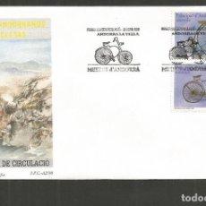 Sellos: ANDORRA SOBRE PRIMER DIA DE CIRCULACION EDIFIL NUM. 262/263. Lote 288537723