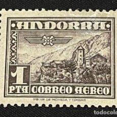 Sellos: ANDORRA, 1951, PAISAJE, EDIFIL 59, NUEVO CON FIJASELLOS. Lote 292575958