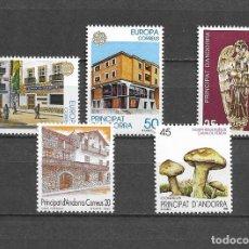 Sellos: ANDORRA, 1990, NUEVOS, MNH** , EDIFIL 218-222, COMPLETO. Lote 295731278