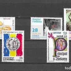 Sellos: ANDORRA, 1993, NUEVOS, MNH** , EDIFIL 235-239, COMPLETO. Lote 295742043