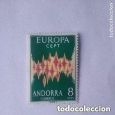 Sellos: EDIFIL 72 ANDORRA 8 PTS EUROPA 1972 CEPT NUEVO SIN FIJASELLOS, CATÁLOGO 120€. Lote 295869688
