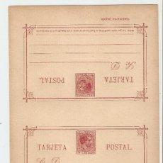 Sellos: ENTERO DOBLE SIN CIRCULAR - 1889 - ALFONSO XII. LEYENDA FILIPINAS 3 C. + 3 C. CARMÍN. Lote 27036533