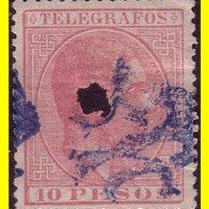 Sellos: FILIPINAS TELÉGRAFOS 1880 ALFONSO XII, EDIFIL Nº 8 (O). Lote 19388066