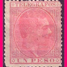 Sellos: FILIPINAS TELÉGRAFOS 1886 ALFONSO XII, EDIFIL Nº 18 *. Lote 21085604