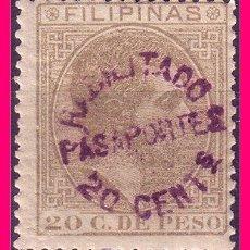 Sellos: FILIPINAS FISCALES HABILITADO PARA PASAPORTES, EDIFIL Nº 65 HABILITADO * *. Lote 21087077