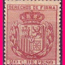 Sellos: FILIPINAS FISCALES, DERECHOS DE FIRMA, 20 C DE PESO CARMÍN * *. Lote 21087779
