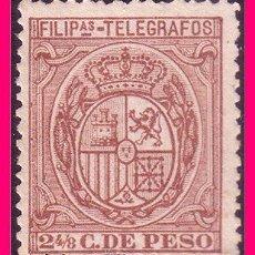 Sellos: FILIPINAS TELÉGRAFOS 1894 ESCUDO DE ESPAÑA, EDIFIL Nº 49 (*). Lote 21988714