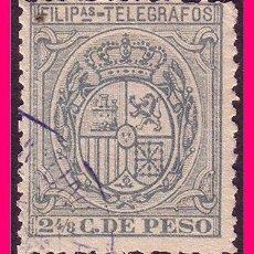 Sellos: FILIPINAS TELÉGRAFOS 1896 ESCUDO DE ESPAÑA, EDIFIL Nº 60 (O). Lote 21988824