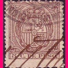 Sellos: FILIPINAS TELÉGRAFOS 1896 ESCUDO DE ESPAÑA, EDIFIL Nº 61 (O). Lote 21988853