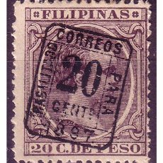 Sellos: FILIPINAS 1898 ALFONSO XIII, HABILITADO, EDIFIL Nº 130H *. Lote 22432113