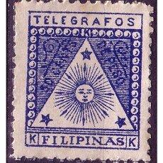 Sellos: FILIPINAS CORREO INSURRECTO,1898 GOBIERNO REVOLUCIONARIO, TELÉGRAFOS EDIFIL Nº 2 * *. Lote 22432171