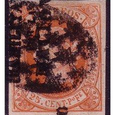 Sellos: FILIPINAS 1869 ISABEL II HPN, EDIFIL Nº 20P (O). Lote 23847523