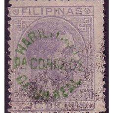 Sellos: FILIPINAS 1881 ALFONSO XII HABILITADOS, EDIFIL Nº 66P (O). Lote 23847838