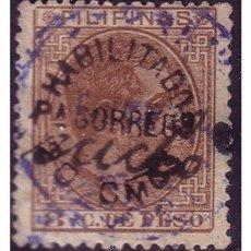 Sellos: FILIPINAS 1881 ALFONSO XII HABILITADOS, EDIFIL Nº 66W (O). Lote 23848274