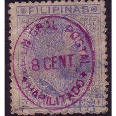 Sellos: FILIPINAS 1887 ALFONSO XII HABILITADOS, EDIFIL Nº 75B (O). Lote 23848430