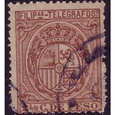 Sellos: FILIPINAS TELÉGRAFOS 1894 ESCUDO DE ESPAÑA, EDIFIL Nº 49 (O). Lote 23850894