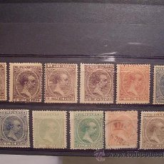 Sellos: FILIPINAS,1890,EDIFIL 76-83,85-87,ALF. XIII,SERIE NO COMPLETA,NUEVOS CON GOMA Y SEÑAL FIJASELLOS.. Lote 24338480