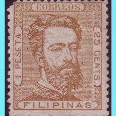 Sellos: FILIPINAS 1872 AMADEO I, EDIFIL Nº 29 (*). Lote 27468938
