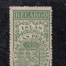 Sellos: ,FILIPINAS FISCAL CATALOGO FORBIN RECARGO 2 CON CHARNELA, . Lote 27813130