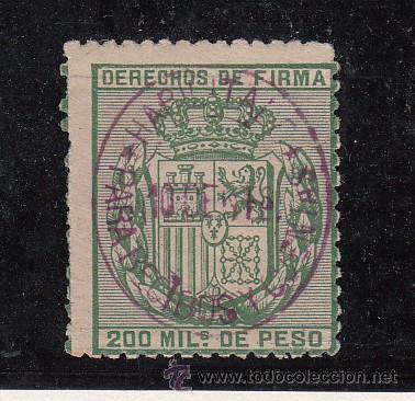,FILIPINAS FISCAL CATALOGO FORBIN RECIBOS Y CUENTAS 6 SIN GOMA, SOBRECARGADO HABILITADO, (Sellos - España - Dependencias Postales - Filipinas)