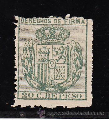 ,FILIPINAS FISCAL CATALOGO FORBIN DERECHOS DE FIRMA 40A SIN GOMA, (Sellos - España - Dependencias Postales - Filipinas)