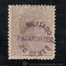 Sellos: ,FILIPINAS FISCAL CATALOGO GALVEZ 35 SOBRECARGADO PASAPORTES SIN GOMA,. Lote 27823375