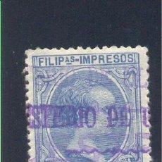 "Sellos: EDIFIL 117M ""MINISTERIO DE ULTRAMAR MUESTRA"". Lote 27869287"