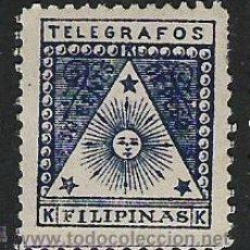 Sellos: 257-SELLO FILIPINAS COLONIA DE ESPAÑA ULTRAMAR CORREO DE LOS REVOLUCIONARIOS 1889 TELEGRAFOS. Lote 27872143