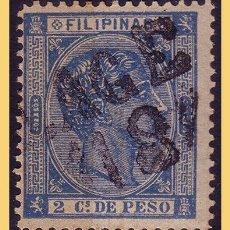 Sellos: FILIPINAS 1876 ALFONSO XII, EDIFIL Nº 35 (O). Lote 28464871
