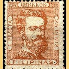 Sellos: FILIPINAS 1872 AMADEO I, EDIFIL Nº 29 *. Lote 28552507