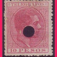 Sellos: FILIPINAS TELÉGRAFOS 1880 ALFONSO XII, EDIFIL Nº 8 (O). Lote 32279399