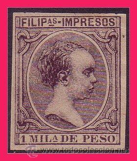 FILIPINAS 1890 ALFONSO XIII, EDIFIL Nº 76S * (Sellos - España - Dependencias Postales - Filipinas)