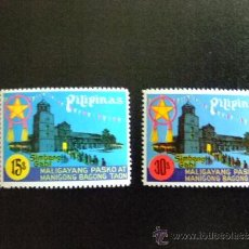 Sellos: FILIPINAS YVERT 1030 - 1031 RELIGION. Lote 34652274