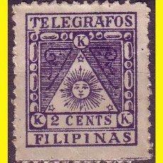 Sellos: TELÉGRAFOS FILIPINAS 1898 CORREO INSURRECTO, EDIFIL Nº 1 * ERROR DE COLOR, AZUL. Lote 42717453