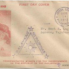 Sellos: 1943 - PRIMER DÍA DE CIRCULACIÓN - FILIPINAS. Lote 49416080