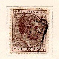 Sellos: FILIPINAS-1880/83-EDIFIL 66-25C.-CASTAÑO-USADO. Lote 49710470