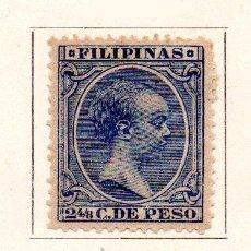 Sellos: FILIPINAS-1890-EDIFIL 81-2 4/8C.-AZUL-NUEVO. Lote 49710753