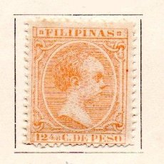 Sellos: FILIPINAS-1891/93-EDIFIL 100-12 4/8C.-NARANJA-NUEVO. Lote 49711218
