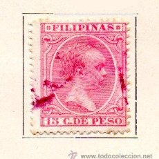 Sellos: FILIPINAS-1894-EDIFIL 115- 15C.-ROSA -USADO. Lote 49712034