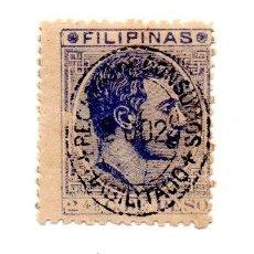 Sellos: FILIPINAS EDIFIL 59 - 1880/83- 2 4/8CT. - AZUL GRISACEO. Lote 49716940