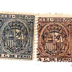 Sellos: CUBA 1898/99-FISCALES 3-4-5- ESCUDOS. Lote 49717644