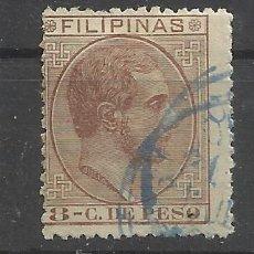 Sellos: ALFONSO XII FILIPINAS 1880 EDIFIL 62 USADO VALOR 2015 CATALOGO 27.-- EUROS. Lote 51527689