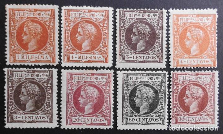 FILIPINAS - ESPAÑA - DEPENDENCIAS POSTALES 1898 Y 99 (Sellos - España - Dependencias Postales - Filipinas)