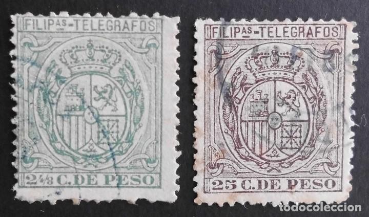 FILIPINAS - ESPAÑA - DEPENDENCIAS POSTALES 1896 - TELEGRAFOS (Sellos - España - Dependencias Postales - Filipinas)