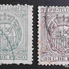 Sellos: FILIPINAS - ESPAÑA - DEPENDENCIAS POSTALES 1896 - TELEGRAFOS. Lote 68954753