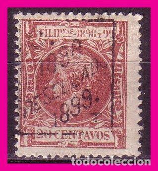 FILIPINAS 1898 ALFONSO XIII, HABILITADOS, EDIFIL Nº 163 * * (Sellos - España - Dependencias Postales - Filipinas)
